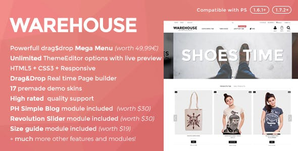 Warehouse - Responsive Prestashop 1.6 & 1.7 theme