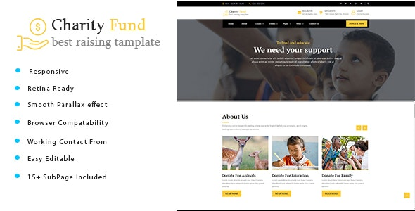 Charity Fund - Charity / Nonprofit / Fundraising HTML Template - Charity Nonprofit
