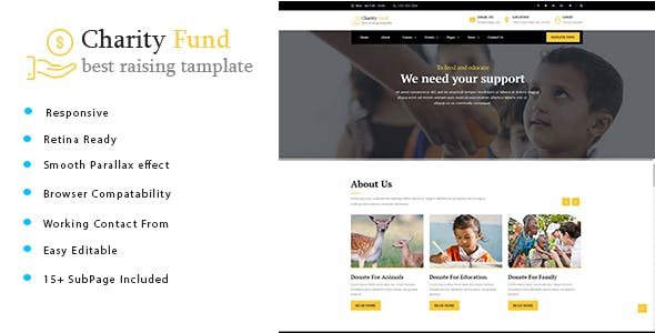 Charity Fund - Charity / Nonprofit / Fundraising HTML Template