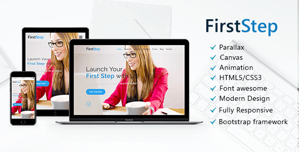 FirstStep - One Page Parallax - Creative Site Templates