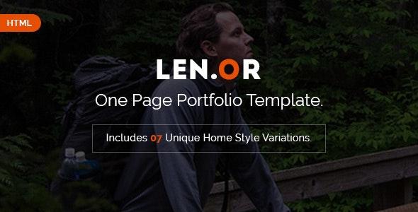 Lenor - Responsive Portfolio HTML Template - Portfolio Creative