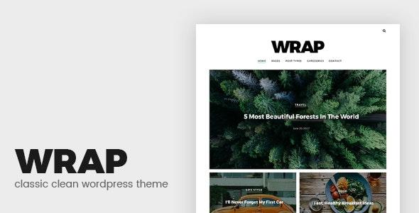 Wrap - Minimalist Blog WordPress Theme - News / Editorial Blog / Magazine