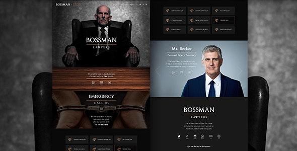 Bossman Lawyers - Corporate Photoshop