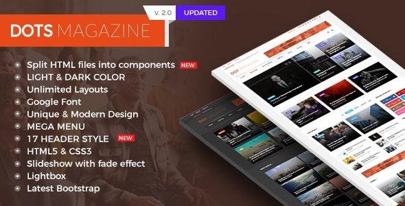 Dots Magazine HTML Templates - Entertainment Site Templates