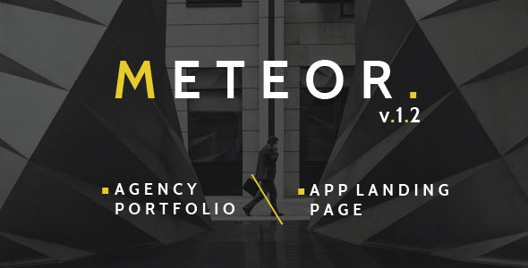 Meteor Creative 2in1 HTML Template - Corporate Site Templates
