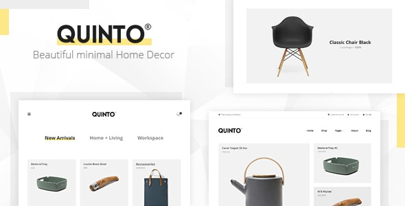 Quinto - Beautiful Minimal WooCommerce WordPress Theme - WooCommerce eCommerce