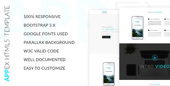Appex Landing Page Template - Marketing Corporate
