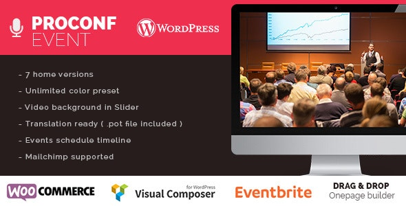 Proconf Event Conference Meetup  WordPress Theme - Events Entertainment