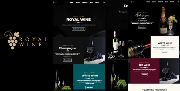 Royalwine - Wine and Winery HTML Template - Food Retail