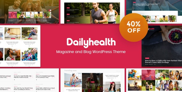 DailyHealth - A Professional Health and Medical Blog and Magazine WordPress Theme - News / Editorial Blog / Magazine