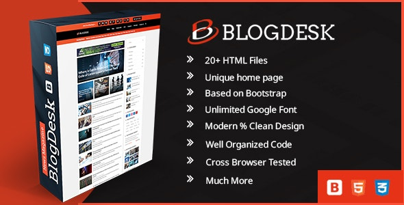 BlogDesk Business Responsive Magazine Template - Corporate Site Templates