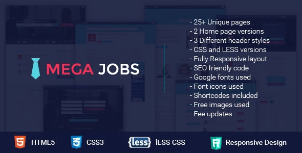 Mega Jobs - All in One Job Portal - Corporate Site Templates