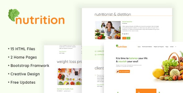 Nutrition Html5 Template For And T Consultancy