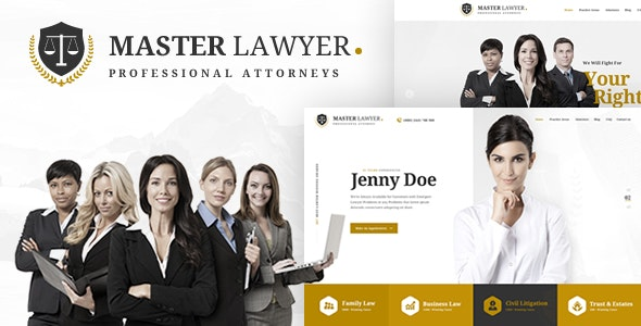 Master Lawyer - PSD Template - Business Corporate