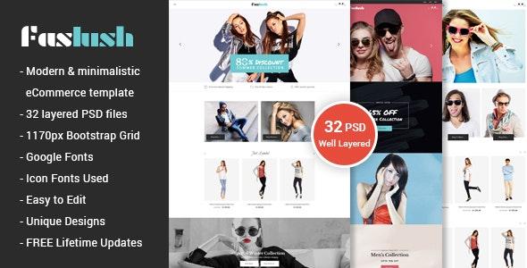 Faslush - A Modern & Minimalistic eCommerce PSD Template - Fashion Retail
