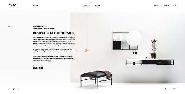 THEO - Architecture & Interior PSD Template - Photoshop UI Templates