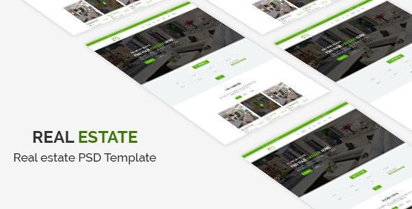 Real Estate PSD Template - Business Corporate