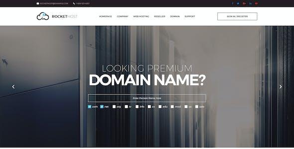 RocketHost - Web Hosting PSD Template