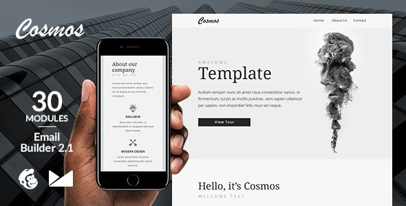 Cosmos Email Template + Online Emailbuilder 2.1 - Newsletters Email Templates