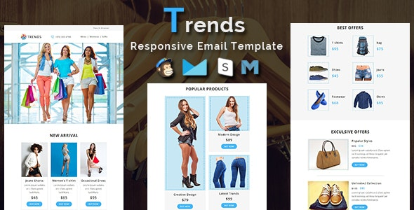 Trends - Responsive Email Template - Newsletters Email Templates