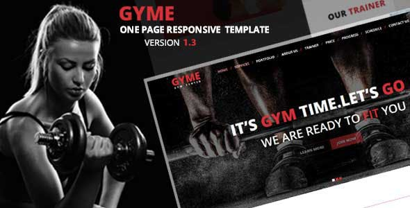 GYME | One Page Responsive HTML5 Gym Template