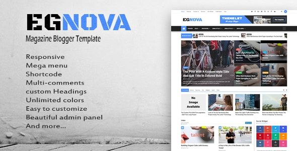 Egnova - News & Magazine Responsive Blogger Template - Blogger Blogging