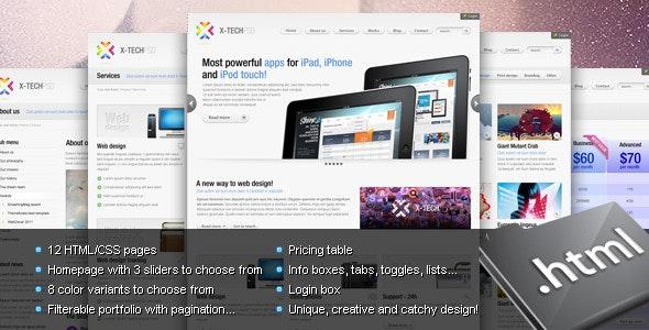 X-Tech Premium HTML/CSS template - Corporate Site Templates