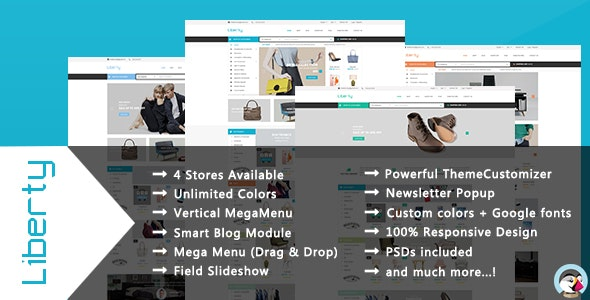 Liberty - Minimal & Modern Shopping Responsive PrestaShop Theme - Shopping PrestaShop
