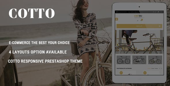 Cotto - Sport Bike Store Responsive PrestaShop Theme