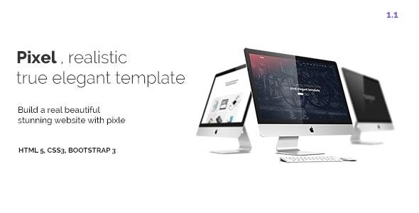 Pixel - A Creative Elegant Responsive template - Creative Site Templates