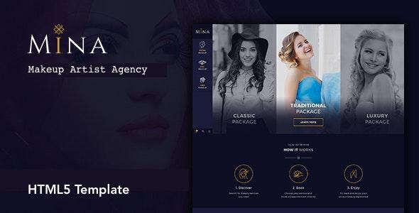 Mina - Beauty Salon Makeup HTML5 Template - Health & Beauty Retail