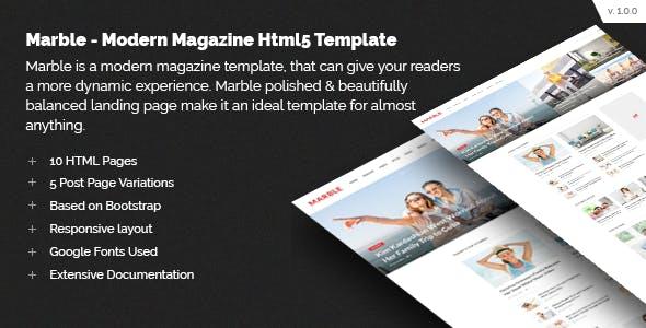 Marble - Modern Magazine HTML5 Template