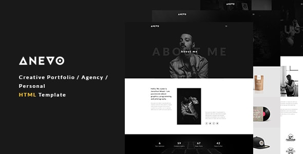 Anevo - Creative Portfolio / Agency / Personal HTML Template - Portfolio Creative