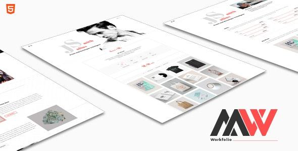 WorkFolio - Personal Portfolio HTML5 Template - Portfolio Creative