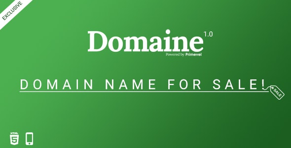 Domaine -  Responsive Domain For Sale Template - Miscellaneous Specialty Pages