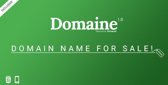 Domaine -  Responsive Domain For Sale Template