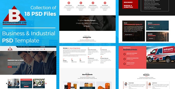 Bizindustries- Business and Industrial PSD Template - Corporate Photoshop