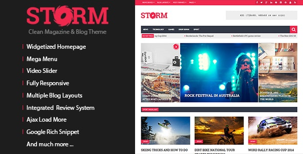 Storm - Clean Magazine & Blog Theme - Blog / Magazine WordPress