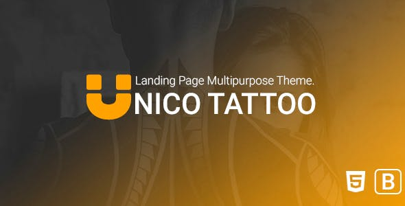 Unico tattoo - Multipurpose Responsive Bootstrap Landing page Template.