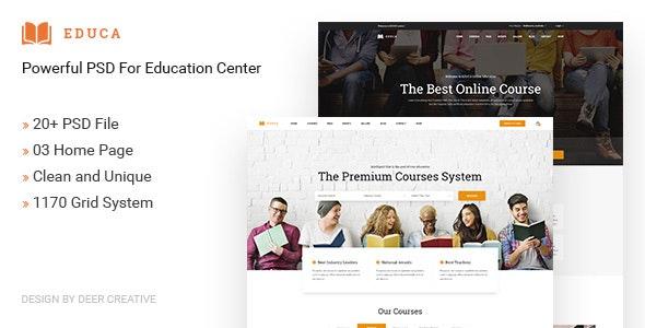EDUCA | Multiconcept Education & Courses PSD Template - Business Corporate