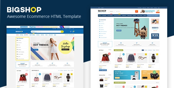 Bigshop- Responsive Ecommerce Template - Shopping Retail