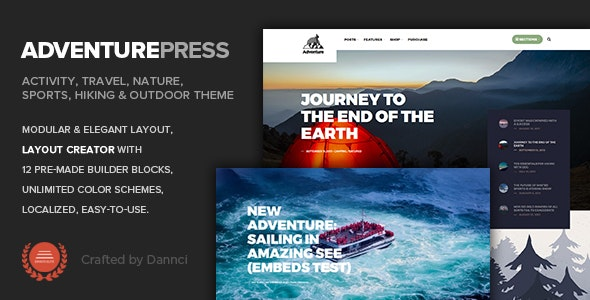 Adventure Press -  Outdoor & Activity WordPress Blog - News / Editorial Blog / Magazine