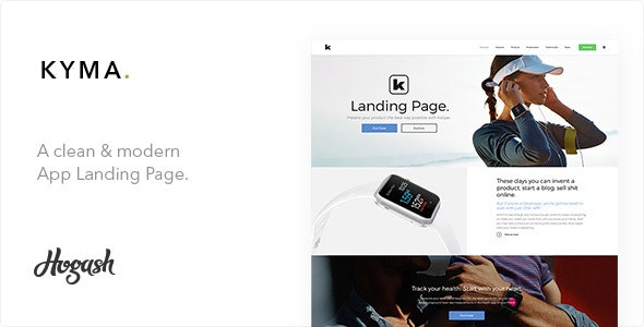 Kyma | One Page parallax - Technology Site Templates