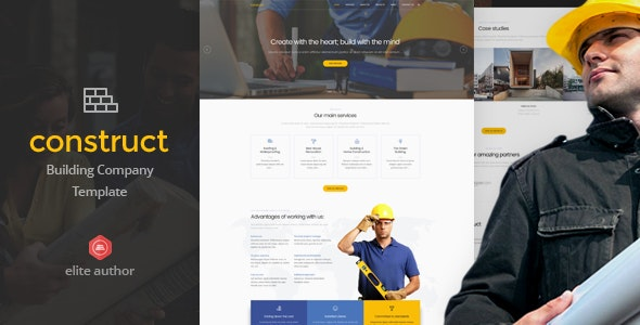 Construct - Construction & Building HTML5 Template - Business Corporate