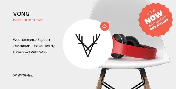 Vong - Creative Portfolio WordPress Theme - Portfolio Creative