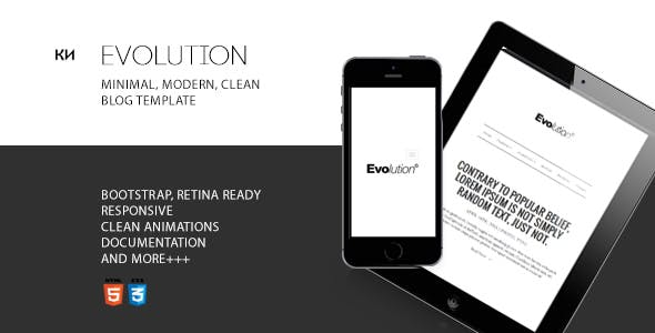 Evolution - Minimal Blog Template