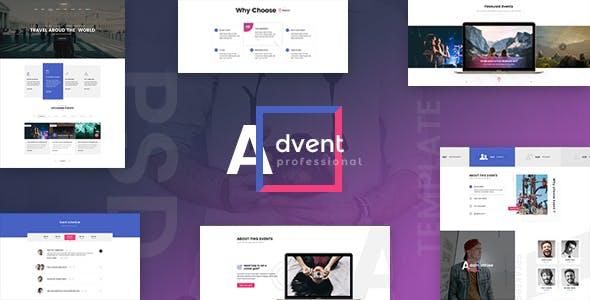 ADVENT - Event Management PSD Template