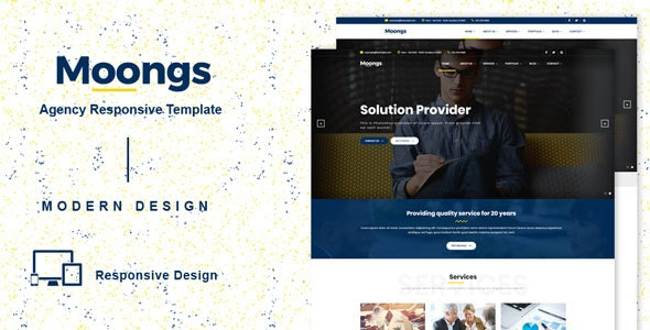 Moongs - Responsive Agency template - Corporate Site Templates