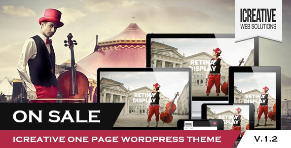 iCreative - OnePage Portfolio WordPress Theme - Portfolio Creative