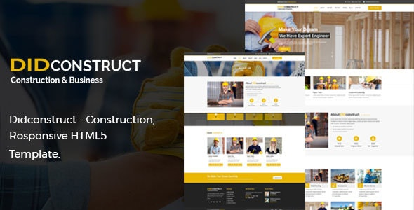 Didconstruct- Construction and Business Responsive HTML5 Template. - Business Corporate